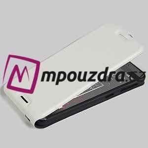 Flipové PU kožené pouzdro na HTC Desire 630 a Desire 530 - bílé - 4