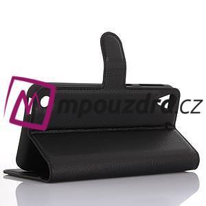 Wally PU kožené pouzdro na mobil HTC Desire 530 a Desire 630 - černé - 4