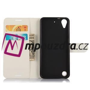 Wally PU kožené pouzdro na mobil HTC Desire 530 a Desire 630 - bílé - 4
