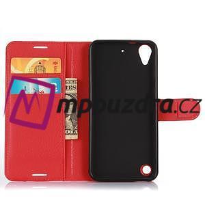 Wally PU kožené pouzdro na mobil HTC Desire 530 a Desire 630 - červené - 4