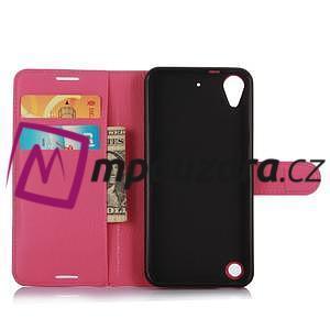 Wally PU kožené pouzdro na mobil HTC Desire 530 a Desire 630 - rose - 4