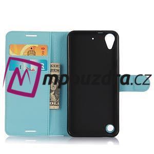Wally PU kožené pouzdro na mobil HTC Desire 530 a Desire 630 - světlemodré - 4