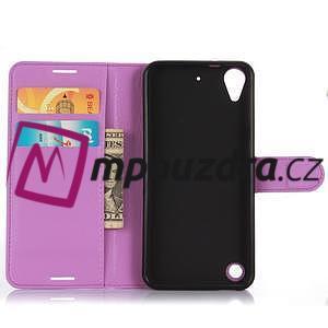 Wally PU kožené pouzdro na mobil HTC Desire 530 a Desire 630 - fialové - 4