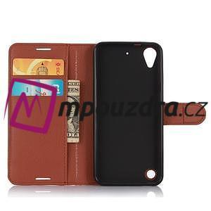 Wally PU kožené pouzdro na mobil HTC Desire 530 a Desire 630 - hnědé - 4