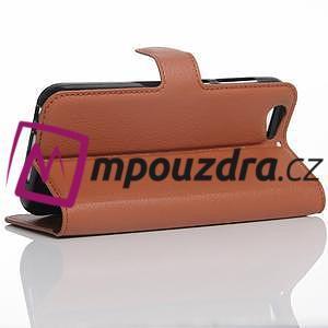 Graines PU kožené puzdro pre HTC One A9s - hnedé - 4