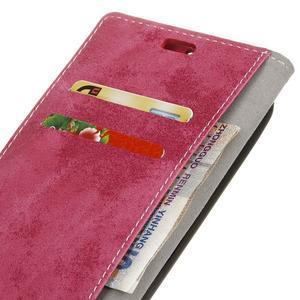 Vintage PU kožené puzdro pre HTC One A9s - rose - 4