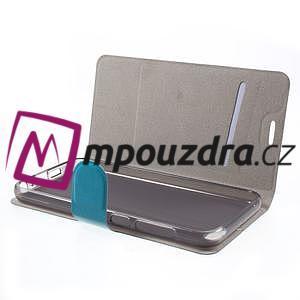 Horse PU kožené puzdro pre mobil HTC One A9s - modré - 4