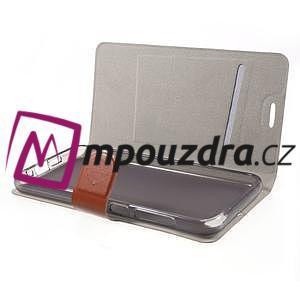 Horse PU kožené puzdro pre mobil HTC One A9s - hnedé - 4