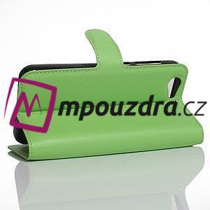 Graines PU kožené puzdro pre HTC One A9s - zelené - 4