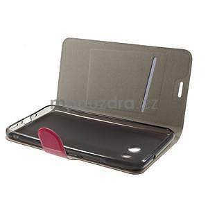 Horse PU kožené zapínacie puzdro na HTC U11 - rose - 4