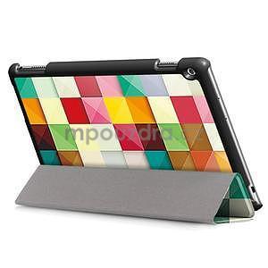 Emotive polohovatelné pouzdro na Huawei MediaPad M3 Lite 10 - barevné čtverečky - 4