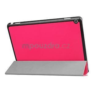 Trifold polohovatelné PU kožené pouzdro na Huawei MediaPad M3 Lite 10 - rose - 4