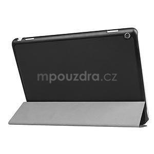 Trifold polohovatelné PU kožené pouzdro na Huawei MediaPad M3 Lite 10 - černé - 4