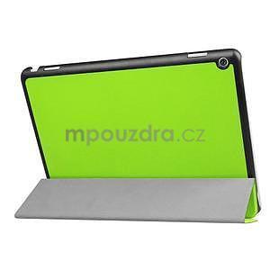 Trifold polohovatelné PU kožené pouzdro na Huawei MediaPad M3 Lite 10 - zelené - 4