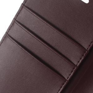 BravoDiary PU kožené pouzdro na mobil Huawei P9 Lite - vínové - 4
