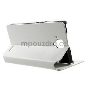 Peněženkové PU kožené pouzdro na Lenovo A536 - bílé - 4