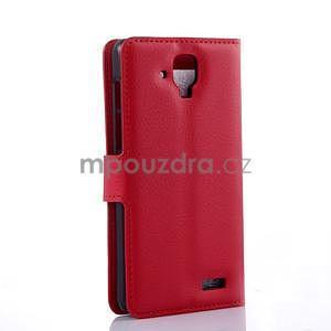 Elegantní PU kožené pouzdro na mobil Lenovo A536 - červené - 4