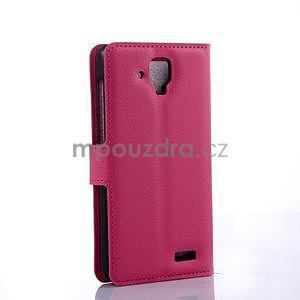 Elegantní PU kožené pouzdro na mobil Lenovo A536 - rose - 4