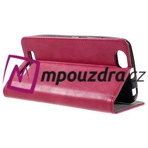 Magnetic PU kožené pouzdro na Lenovo Vibe C A2020 - červené - 4