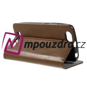 Magnetic PU kožené pouzdro na Lenovo Vibe C A2020 - hnědé - 4
