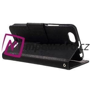 Butterfly knížkové pouzdro na mobil Lenovo Vibe C A2020 - černé - 4