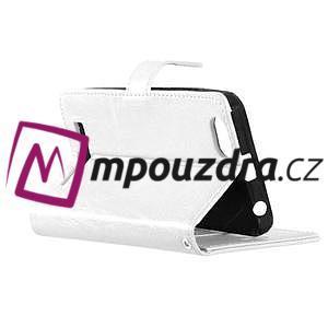 Fashion PU kožené pouzdro na mobil Lenovo Vibe C A2020 - bílé - 4