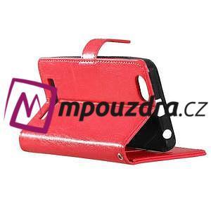Fashion PU kožené pouzdro na mobil Lenovo Vibe C A2020 - červené - 4