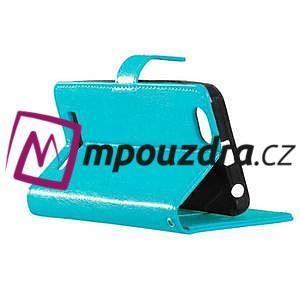 Fashion PU kožené pouzdro na mobil Lenovo Vibe C A2020 - modré - 4