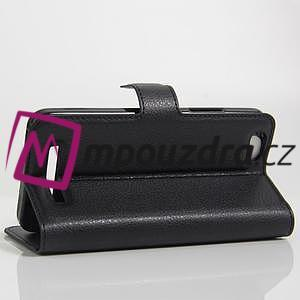 Grain peněženkové pouzdro na mobil Lenovo Vibe C A2020 - černé - 4