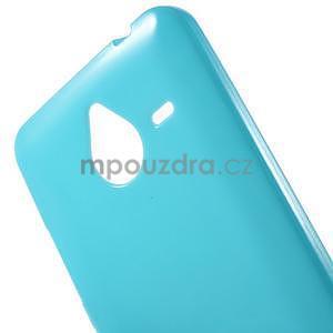 Světle modrý gelový obal pro Microsoft Lumia 640 XL - 4