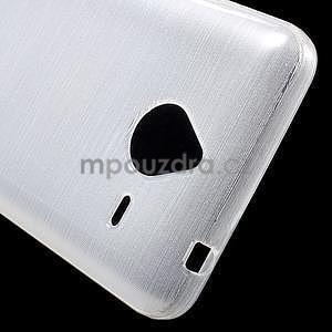 Gelový kryt s broušeným vzorem Microsoft Lumia 640 XL - bílý - 4