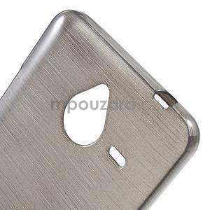 Gelový kryt s broušeným vzorem Microsoft Lumia 640 XL - šedý - 4
