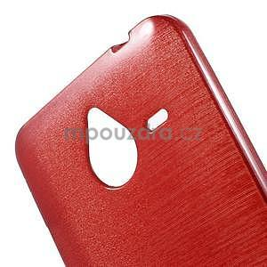 Gelový kryt s broušeným vzorem Microsoft Lumia 640 XL - červený - 4