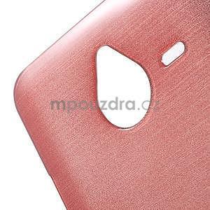 Gelový kryt s broušeným vzorem Microsoft Lumia 640 XL - růžový - 4