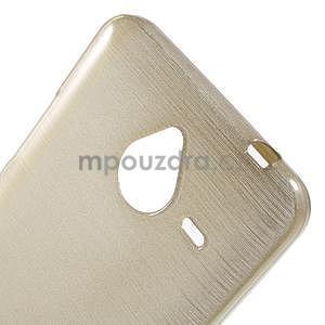 Gelový kryt s broušeným vzorem Microsoft Lumia 640 XL - champagne - 4