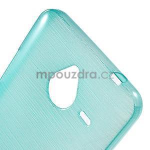 Gelový kryt s broušeným vzorem Microsoft Lumia 640 XL - modrý - 4