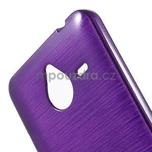 Gelový kryt s broušeným vzorem Microsoft Lumia 640 XL - fialový - 4