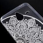 Transparentní gelový obal na Microsoft Lumia 640 XL - lotus - 4/5