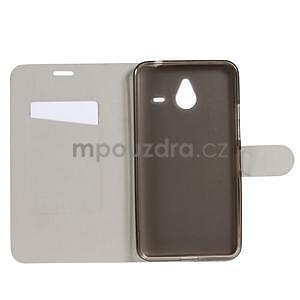 Peněženkové PU kožené pouzdro na Microsoft Lumia 640 XL - bílé - 4