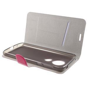 Horse PU kožené pouzdro na mobil Motorola Moto G6 Play - rose - 4