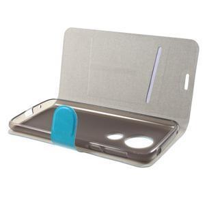 Horse PU kožené pouzdro na mobil Motorola Moto G6 Play - modré - 4