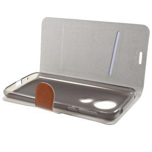Horse PU kožené pouzdro na mobil Motorola Moto G6 Play - hnědé - 4
