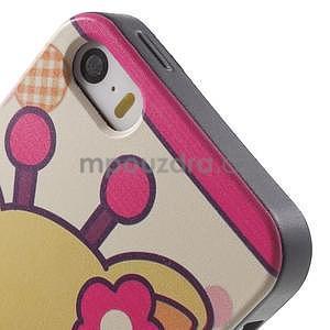 Gelové pouzdro na iPhone 5 a 5s - kravička - 4