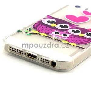Fun gelový obal na iPhone 5s a iPhone 5 - soví rodinka - 4
