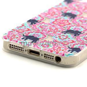 Fun gelový obal na iPhone 5s a iPhone 5 - sloni - 4