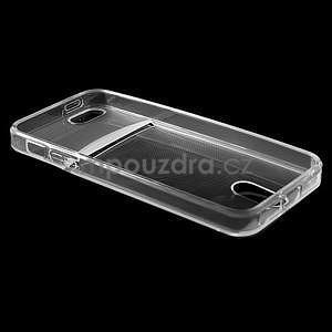 Ultra tenký obal s kapsičkou pro iPhone 5 a 5s - transparentní - 4