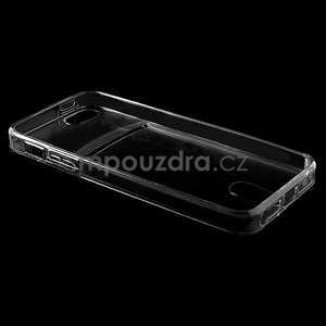Ultra tenký obal s kapsičkou pro iPhone 5 a 5s - šedý - 4