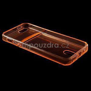 Ultra tenký obal s kapsičkou pro iPhone 5 a 5s - oranžový - 4