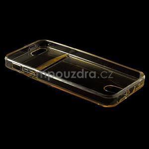 Ultra tenký obal s kapsičkou pro iPhone 5 a 5s - champagne - 4