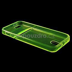 Ultra tenký obal s kapsičkou pro iPhone 5 a 5s - zelenožlutý - 4